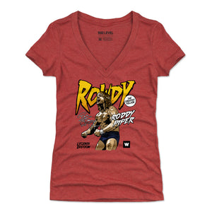Roddy Piper Women's V-Neck T-Shirt | 500 LEVEL