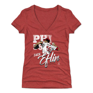 Zach Eflin Women's V-Neck T-Shirt | 500 LEVEL