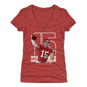 Patrick Mahomes Women's V-Neck T-Shirt | 500 LEVEL