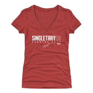 Devin Singletary Women's V-Neck T-Shirt | 500 LEVEL