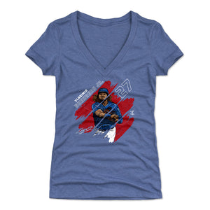 Vladimir Guerrero Jr. Women's V-Neck T-Shirt | 500 LEVEL