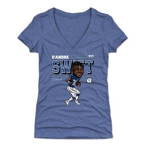 D'Andre Swift Women's V-Neck T-Shirt | 500 LEVEL