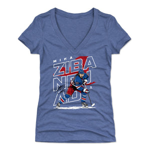 Mika Zibanejad Women's V-Neck T-Shirt | 500 LEVEL
