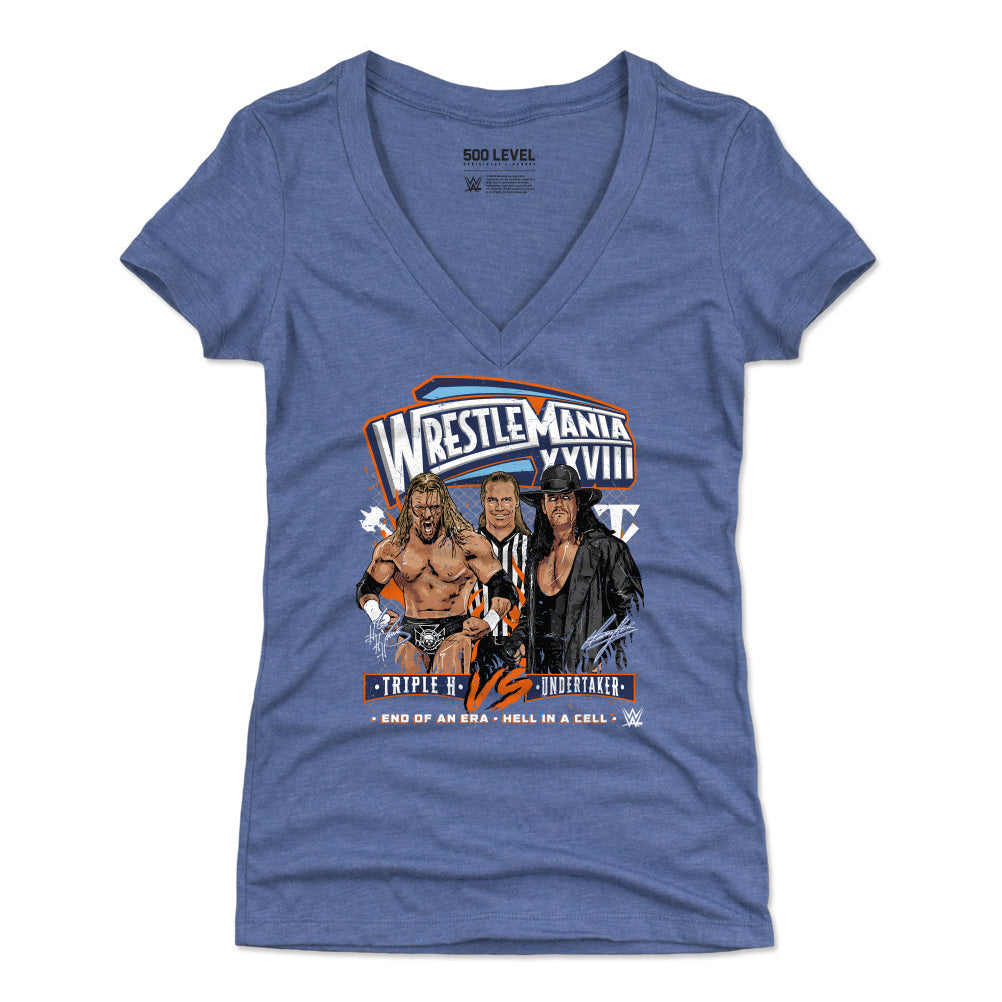 Wrestlemania Women's V-Neck T-Shirt | 500 LEVEL