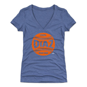 Edwin Diaz Women's V-Neck T-Shirt | 500 LEVEL