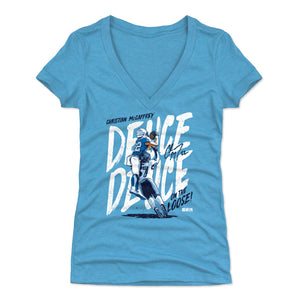 Christian McCaffrey Women's V-Neck T-Shirt | 500 LEVEL