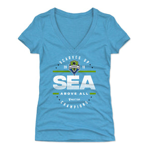 Seattle Sounders FC 2019 Champions Women's V-Neck T-Shirt | 500 LEVEL