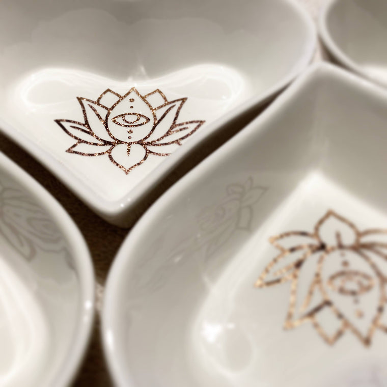 Heart Dish: Lotus Eye (Rose Gold)