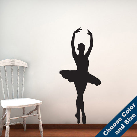 Ballerina En Pointe Wall Decal