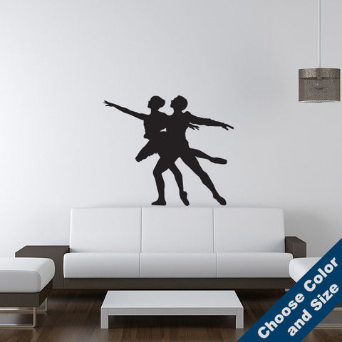 Ballet Dancers Wall Decal