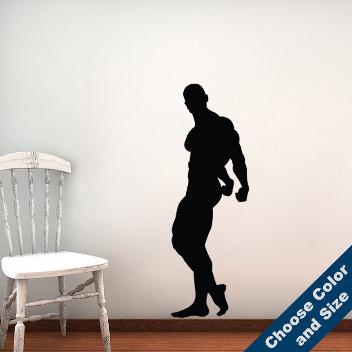 Bodybuilder Triceps Pose Wall Decal