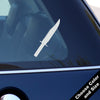 Bowie Knife Decal, Vinyl Sticker