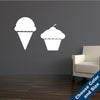 Cupcake Ice Cream Wall Set Decal