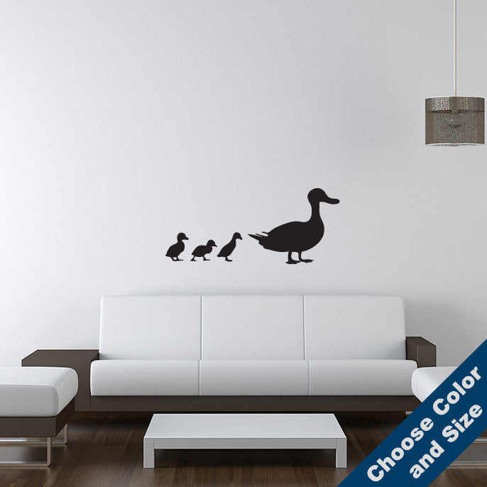 Duck with Ducklings Wall Decal