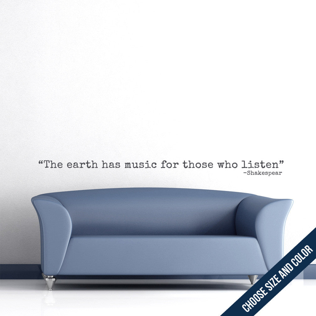 Earth Has Music Wall Decal
