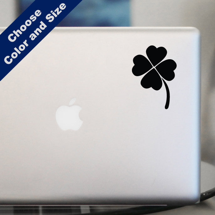 Four Leaf Clover Decal, Vinyl Sticker