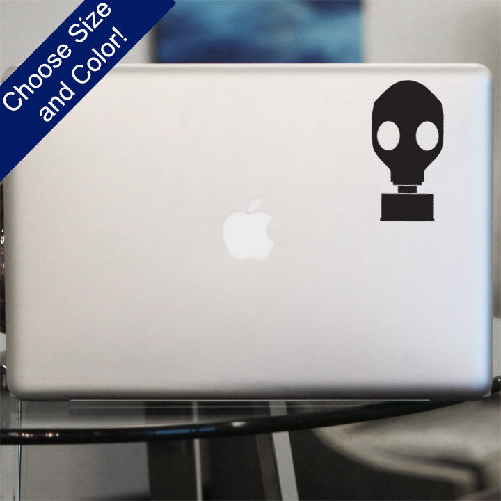 Gas Mask Decal, Vinyl Sticker