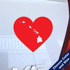I Heart Hawaii State Decal, Vinyl Sticker
