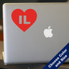 I Heart Illinois Decal