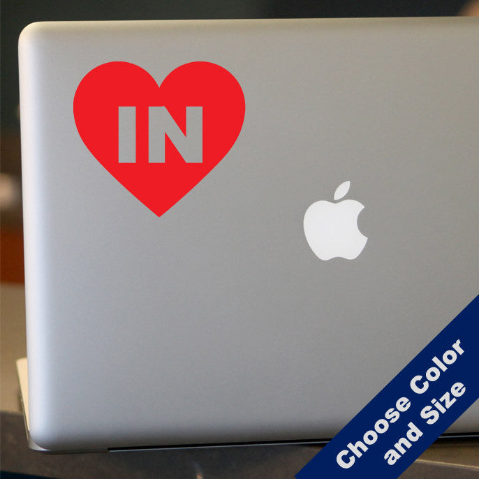 I Heart Indiana Decal