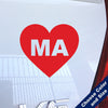 I Heart Massachusetts Decal