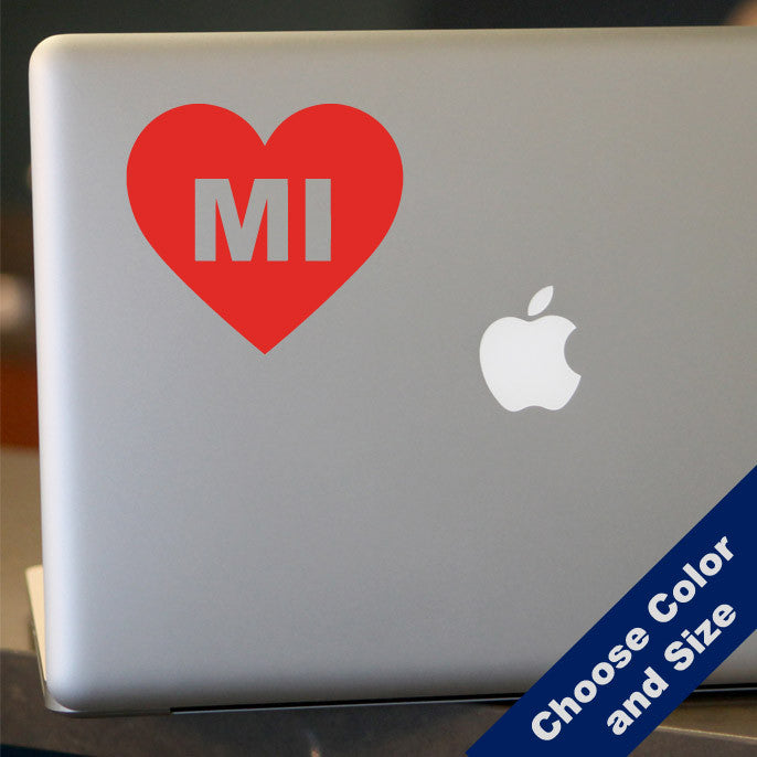 I Heart Michigan Decal