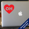 I Heart Ohio Decal