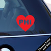 I Heart Philadelphia Decal