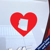 I Heart Nevada State Decal, Vinyl Sticker