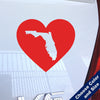 I Heart Florida State Decal, Vinyl Sticker