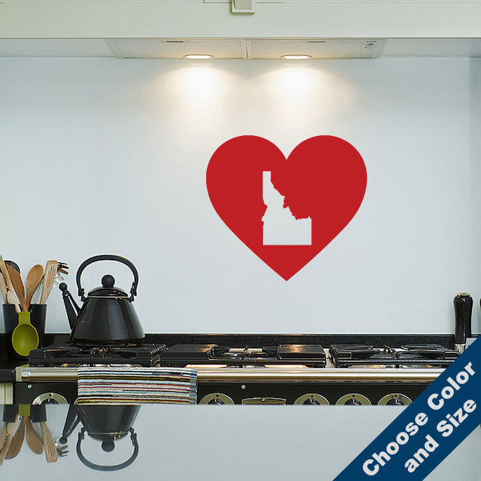 I Heart Idaho State Wall Decal
