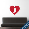 I Heart Indiana State Wall Decal