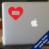 I Heart Kansas State Decal, Vinyl Sticker