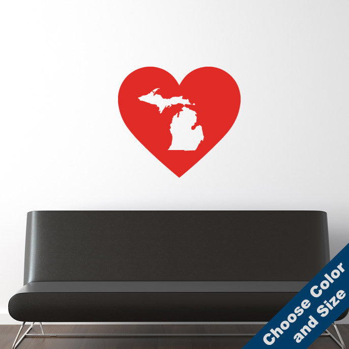 I Heart Michigan State Wall Decal