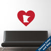 I Heart Minnesota State Wall Decal
