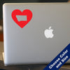 I Heart Montana State Decal, Vinyl Sticker