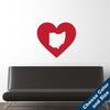I Heart Ohio State Wall Decal