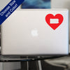I Heart Pennsylvania State Decal, Vinyl Sticker