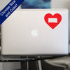 I Heart South Dakota State Decal, Vinyl Sticker