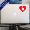 I Heart Utah State Decal, Vinyl Sticker