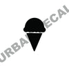 Ice Cream Cone Decal, Vinyl Sticker