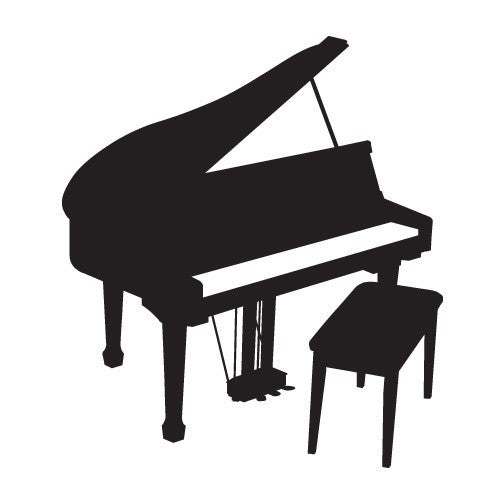 Grand Piano Decal