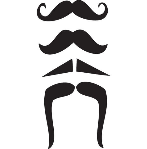 Vintage Mustache Decal