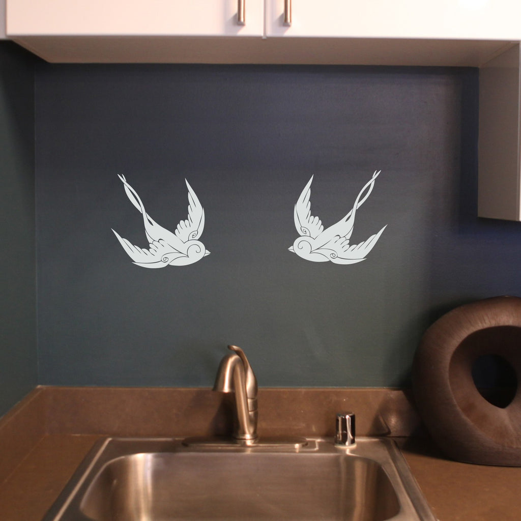 Classic Sparrow Birds Decal