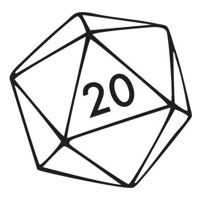 20 Sided Die Decal