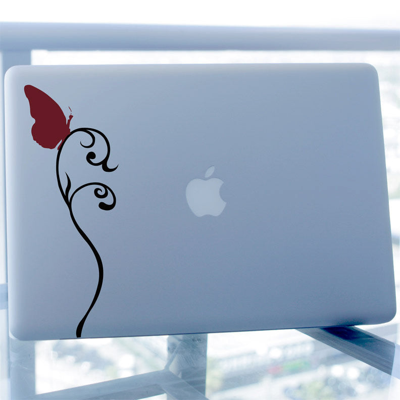 Butterfly on Vine Decal