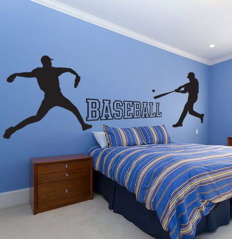 Baseball Wall Decal Set