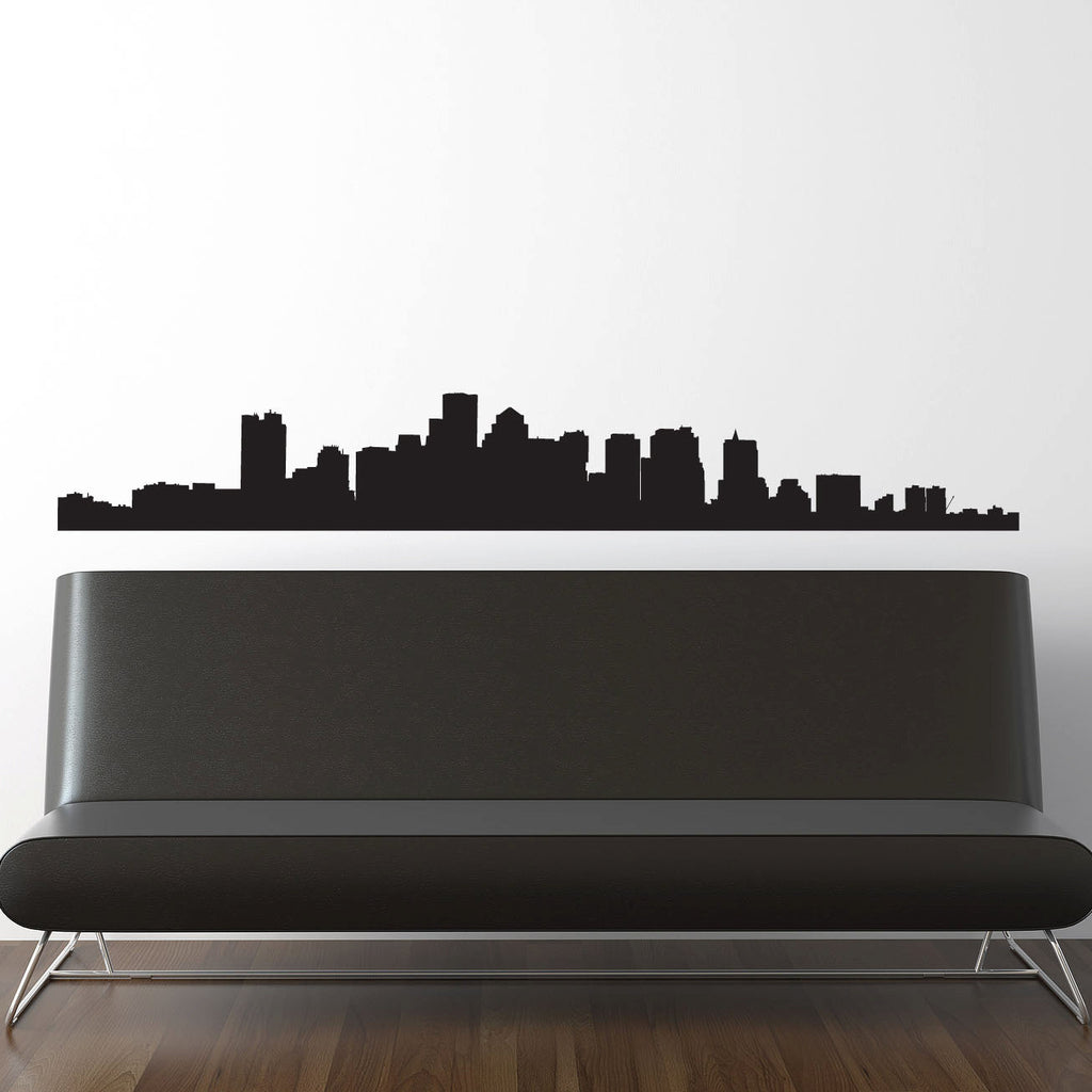 Boston Skyline Wall Decal