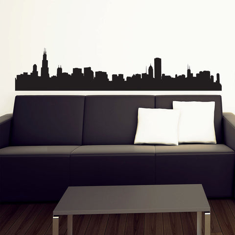 Chicago Skyline Wall Decal & Urban Decal u2014 Skyline Wall Decals and Wall Stickers