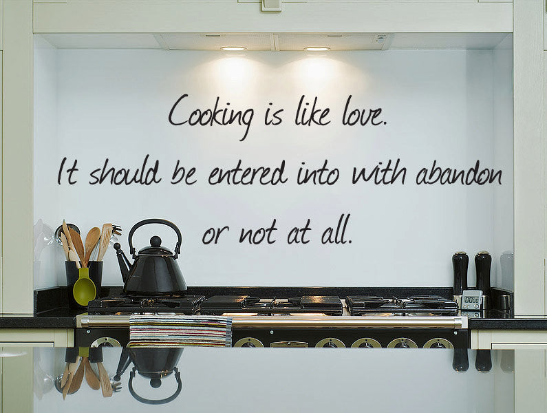 Cooking Quote Wall Decal